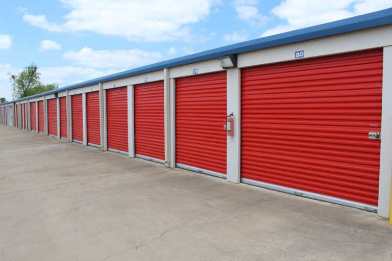 Drive up storage units in Georgetown, TX.