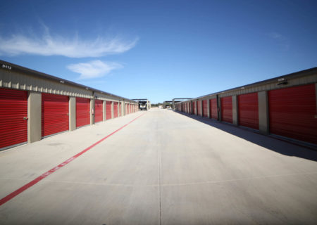 Storage units at Liberty Hill Storage facility.
