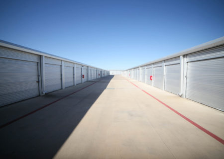 Storage units at Leander Storage in Texas.