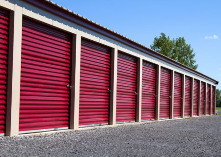 Drive-up storage units in College Station, TX.